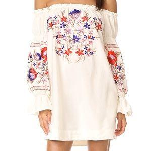 Fleur du Jour Embroidered Free People Dress